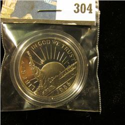 1986 S Proof 68+ Statue of Liberty Commemorative Half-Dollar, encapsulated.
