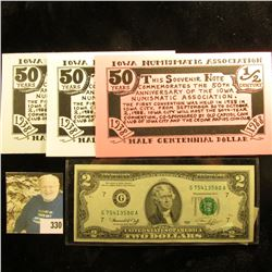 """Series 1976 U.S. Two Dollar Federal Reserve Note, CU; 1897 """"The Investment Trust Company of America"""