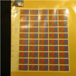"""Sheet of 50 Eight Cent Stamps United States Postage """"Love""""; & 1932 Mint Sheet of 100 Christmas Seals"""