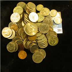 Approximately $16 face value in old unsorted U.S, coins including Silver.