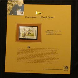 2001 Tennessee Waterfowl Series $10.00 Stamp depicting a pair of Wood Ducks, Mint, unsigned, in viny