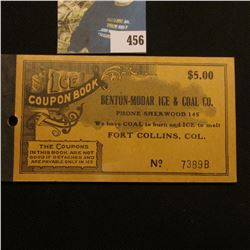 "Original unused ""Ice Coupon Book Benton-Modar Ice & Coal Co. Phone Sherwood 145 We Have COAL to burn"