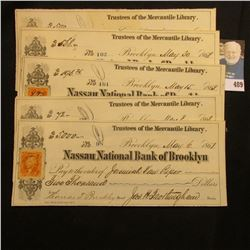 "(7) Consecutively numbered checks from the ""Trustees of the Mercantile Library."" drawn on the ""Nassa"