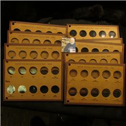 Set of (10) Meghrig coins boards made to hold U.S. Large Cents 1793-1857.