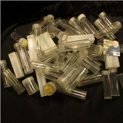 (50) Used Coin Tubes. Various denominations.