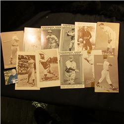 (3) Sports Hobbyist Advertising cards including: Mike Kelly, Hank Sauer, & John Pepper Martin; (4) d