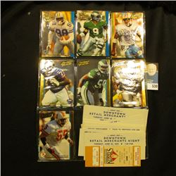 (7) Action Packed Football Cards; & (15) 1970-90 era Cedar Rapids, Iowa Sports events tickets.