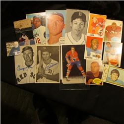 (15) Various Sports Cards, some large format. Some date back to the late Sixties.