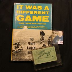 """1969 Third printing """"It Was a Different Game The Elmer Layden Story"""", hardbound with dust cover; & a"""