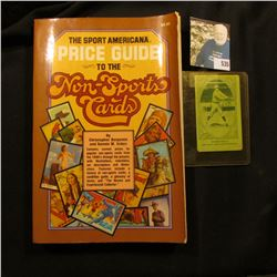 """1981 copyright """"The Sport Americana Price Guide to the Non-Sports Cards"""", soft bound, 316 pages; & a"""