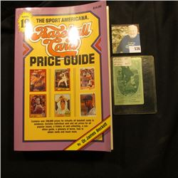 """1990 copyright """"The Sport Americana Price Guide to the Non-Sports Cards"""", soft bound, 704 pages; & a"""