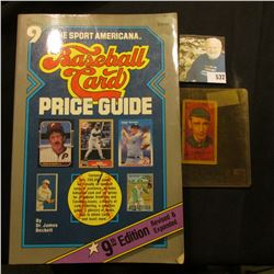 """1987 copyright """"The Sport Americana Price Guide to the Non-Sports Cards"""", soft bound, 534 pages; & a"""