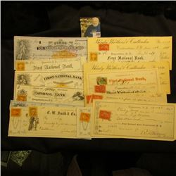(18) Different Cooperstown, New York Bank Checks dating from 1864 to 1901.  Most or all have attache