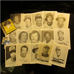 (15) different autographed photo cards of Pittsburgh Pirates players, plus a Sticker.