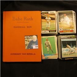 "1954 First Edition hardbound book ""Babe Ruth Baseball Boy"", by Guernsey Van Ripper, Jr., 192 pgs.; &"