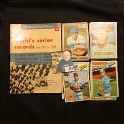 """The Sporting News Library Official World's Series Records from 1903 to 1954"", cover torn; & a group"