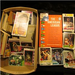 "1963 ""New Revised Edition The American League"", hardbound book edited by Ed Fitzgerald; & a shoe box"