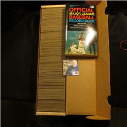 """14"""" Card Stock Box about full of 1971 Topps Baseball Cards; & 1972 edition """"Official Major League Ba"""
