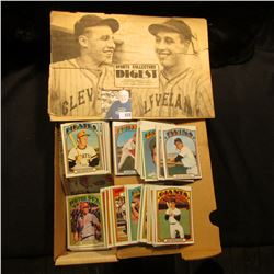 """14"""" Card Stock Box 80% full of 1972 Topps Baseball Cards; & a 1977 Sports Collectors Digest."""
