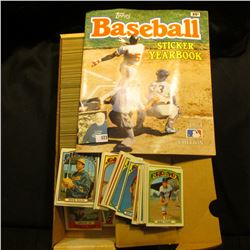 "14"" Card Stock Box 90% full of 1972 Topps Baseball Cards; & 1984 Edition Topp's Baseball Sticker Yea"