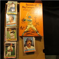 """1965 """"Secrets of Big League Play"""", by Robert Smith, hardbound; & a 14"""" Stock box full of 1976 Topps"""