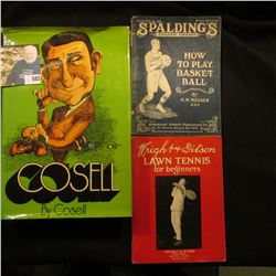 """1973 Second Edition with dust cover """"Cosell"""" by Cosell, published by Playboy Press; """"Spalding's Athl"""