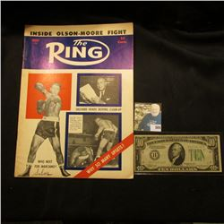 """August 1955 """"The Ring"""" with articles """"Who Next for Marciano?"""" & """"Helfland Heads Boxing Clean-Up""""; &"""
