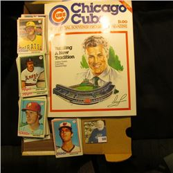 Mint condition, Vol.1 No.1  Chicago Cubs 1982 Official Souvenir Program Magazine ; & 14  Card Stock