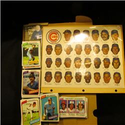 """1973 Chicago Cubs Team Photo with signatures; & 14"""" Card Stock Box full of 1978 Topps Baseball Cards"""