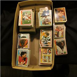 Shoe Box full of old Foot Ball, most appear be 1978 issues.