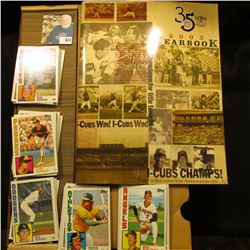 """""""35 Years Triple-A Baseball 2003 Yearbook I-Cubs Champs!"""" & a full 14"""" Card Stock Box of 1984 Topps"""