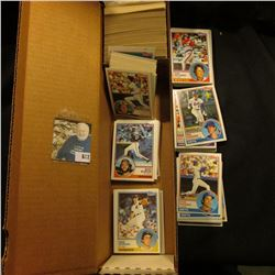 """14"""" Card Stock Box about half full of 1983 Topps & Donruss Baseball cards."""