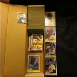 "14"" Card Stock Box over half full of 1982 Topps & Donruss Baseball cards."