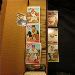 "14"" Card Stock Box nearly full of 1966 Topps Baseball cards."