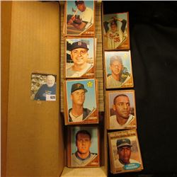 "14"" Card Stock Box nearly full of 1962 Topps Baseball cards."