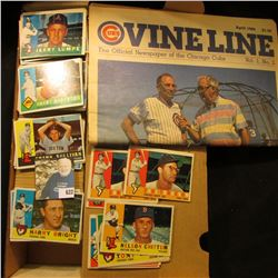 "14"" Card Stock Box nearly full of 1960 Topps Baseball cards; & April 1986 Vol.1, No. 2 ""Cubs Vine Li"