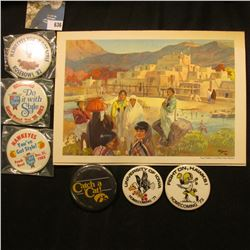 """""""Iowa Alumni Special from Rose-Bowl 1959 Gibbs Tour Co."""" Program with cover of """"Taos Pueblo in north"""