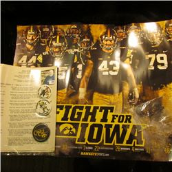 """Fight For Iowa"" Hawkeyes Football Poster; Typewritten ""Rose Bowl Trip Revised Itinerary…State Unive"