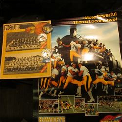 """""""More Powerfull than a Locomotive Hawkeye Football '83 9 & 2 1983 Gator Bowl"""" Poster; """"Des Moines Re"""