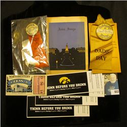 """""""University of Iowa"""" ID Pinback with Ribbon with name """"Chas. F. Griffin"""", whom was a Druggist in Map"""