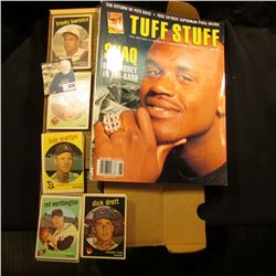 "June 1993 edition ""Tuff Stuff The Nation's Favorite Trading Card Magazine""; & 14"" Card Stock Box ful"