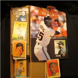 "Oct. 1993 ""Beckett Baseball Monthly"", & 14"" Card Stock Box 3/4 full of 1958 Topps."