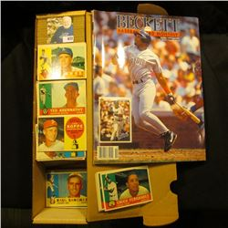 """14"""" Card Stock Box 1/2 full of 1957 & 1960 Topps; & 1992 Issue No. 91 """"Beckett Baseball Card Monthly"""