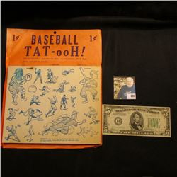 """""""1c BASEBALL TAT-ooH!"""" 1 Gross; interesting 'Doc' thought it to be 1930 era, but to be sure, we have"""