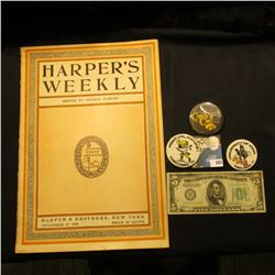 "November 17, 1906 ""Harper's Weekly"" Edited by George Harvey; Series 1934 B Five Dollar Federal Reser"