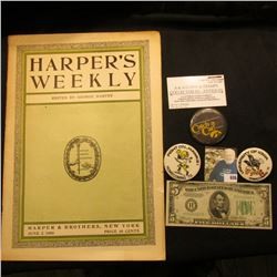 "June 2, 1906 ""Harper's Weekly"" Edited by George Harvey; Series 1934 B Five Dollar Federal Reserve No"
