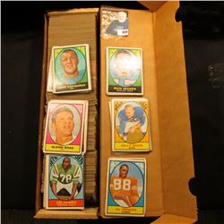 "14"" Stock box full of 1960-70 era Football Cards."