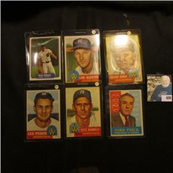 (6) Old Baseball Cards, which 'Doc' thought were worth about $200. Includes Kirk Gibson, Lou Sleater