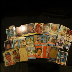 (23) Old Baseball Cards, several of which are autographed. See the photo for more details.