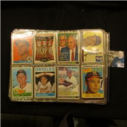A group of more than (20) Plastic pages with Baseball Cards, some of which have been autographed. A